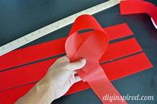How To Fold Ribbon How To Make A Large Bow With Ribbon Diy Inspired