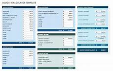 Budet Calculator Free Monthly Budget Templates Smartsheet