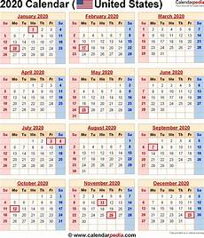 2020 Calendar Holidays Usa 2020 Printable Calendar With Holidays Usa Monthly