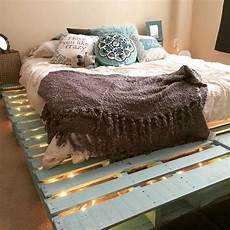How To Make A Pallet Bed Frame With Lights Top 62 Recycled Pallet Bed Frames Diy Pallet Collection