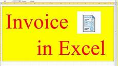 How To Make Invoices In Excel How To Make Invoice In Excel Tutorial 2019 Microsoft