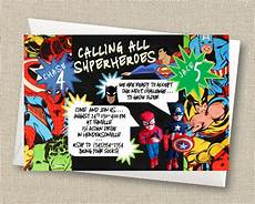 Superhero Invite Template 21 Superhero Birthday Invitations Psd Vector Eps Ai