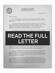 Resign Later Read James Mattis Full Resignation Letter Pbs Newshour