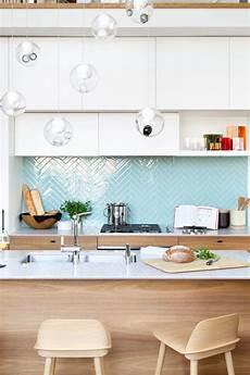 Light Blue Kitchen Tiles 15 Edgy Geometric Kitchen Backsplashes To Get Inspired