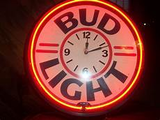 Bud Light Neon Vintage Bud Light Budweiser Neon Clock