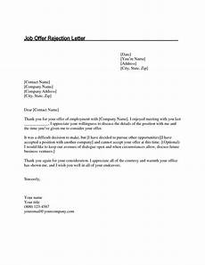 Letter To Turn Down A Job Offer Valid How To Turn Down A Job Interview Sample Letter Job