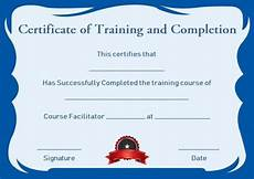 Certificate Of Training Template Free Certificate Of Completion 22 Templates In Word Format