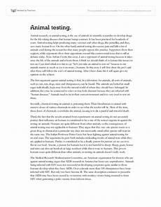Animal Testing Essays Animal Testing Essay Gcse Science Marked By Teachers Com