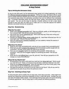 College Application Essays College Essay Examples Pdf Admissions Essays