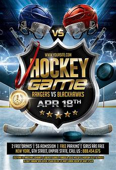 Hockey Flyer Template Hockey Game Flyer By Smashingflyers Graphicriver