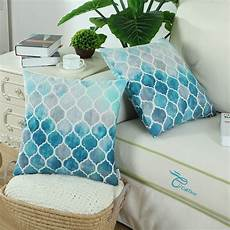 pack of 2 calitime cozy throw pillow cases covers for