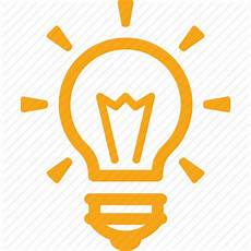 light bulb icon free clipart with a transparent