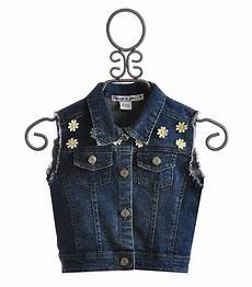 Flowers By Zoe Size Chart Flowers By Zoe Denim Vest With Daisies Size Md 10 Amp Lg 10 12