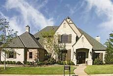 european house plan with two story family room 48090fm