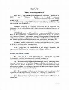 Sample Investor Agreement 8 Equity Investment Agreement Examples Pdf Examples