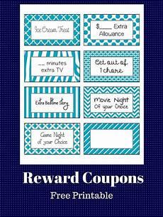 Coupon Chart Free Printable Reward Coupons Kids Rewards Reward