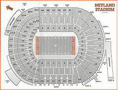 Tennessee Volunteers Stadium Seating Chart Click Now For A One Page Print Out Neyland Stadium