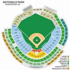 Washington Nats Stadium Seating Chart Nationals Park Seating Chart Nationals Park Seating