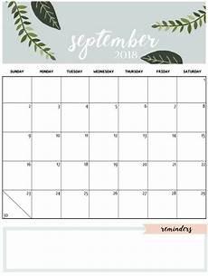 Free Printable September Calendar Cute September 2018 Calendar September Calendar