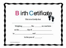Official Blank Birth Certificate Template Cute Looking Birth Certificate Template