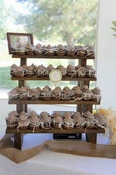 the rustic cake stand and cupcake stand weddings