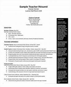 Sample Resume In Pdf Free Teacher Resume 40 Free Word Pdf Documents