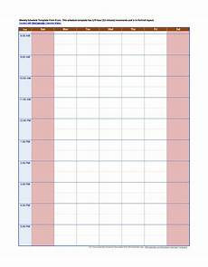 Free Hourly Schedule Template 43 Effective Hourly Schedule Templates Excel Amp Ms Word ᐅ