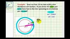 Tire Revolutions Per Mile Chart Example Determine The Number Of Revolutions Per Second Of