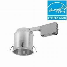 Led Shallow Recessed Lighting Halo H750 6 In Aluminum Led Recessed Lighting Housing For