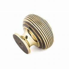 aged brass beehive cabinet knob large beehive knobs