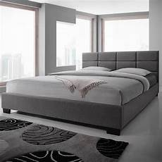 new king size fabric bed frame light grey