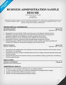 Business Resume Samples Business Administration Resume Samples Sample Resumes