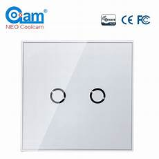 Neo Coolcam Light Switch Neo Coolcam Z Wave Plus 2ch Eu Wall Light Switch Home