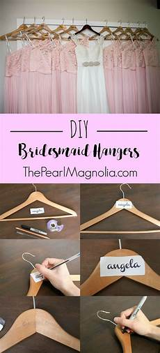 diy bridesmaid wooden hangers bridesmaids bachelorette