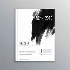Black Cover Page Creative Business Magazine Cover Page Layout With Black