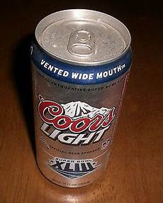 Coors Banquet Vs Coors Light Superbowl Xliii Coors Light Can Steelers Vs