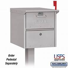 Business Mailbox Salsbury Industries 4325slv Roadside Mailbox Front And