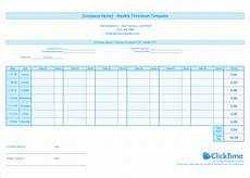 Project Timesheet Weekly Timesheet Template Free Excel Timesheets Clicktime