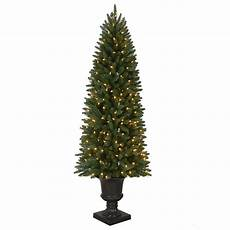 Home Depot Trees With Lights 6 Ft Pre Lit Led New Meadow Artificial Christmas Potted