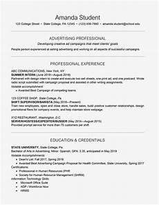 How To Write A Resume For Students With No Experience Resume Examples 2017 College Student World Of Reference