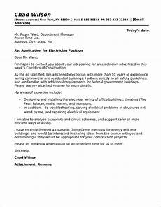 Electrician Apprentice Cover Letters Electrician Cover Letter Sample