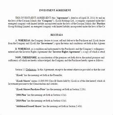 Sample Investor Agreement 11 Venture Capital Investment Agreement Examples Pdf