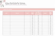 Wedding Invitation List Template 5 Wedding Invitation List Templates Fine Word Templates