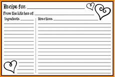 Word Template Recipe 5 Free Editable Recipe Card Templates For Microsoft Word