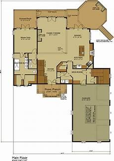 Floor Plan Car 3 Car Garage Lake House Plan Lake Home Designs