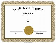 What Is Certificate Of Recognition Free Certificate Of Recognition Template Customize Online
