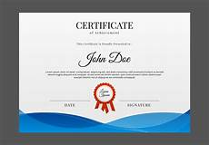 Certificate Of Template Free Certificate Template Vector Download Free Vectors