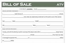 Bill Of Sale Az Free Connecticut Atv Dirt Bike And Utv Bill Of Sale