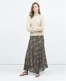 faldas kort zara draped printed skirt faldas largas
