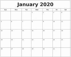 Calendar January December 2020 December 2019 Calendar